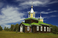 © 2002 Randy Vanderveen, all rights reserved.Hines Creek, Alberta.An old log church on the outskirts of Hines Creek.