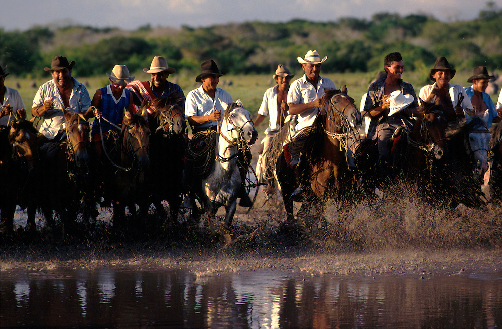 Cattle herders spend weeks on end living in the saddle, slinging their hammocks, and feeding solely off the cows they herd (the naughtiest calf is usually slaughtered for supper. Every last part of the animal is used for something: the skin used for lassoos for example, Llanos of Casanare.