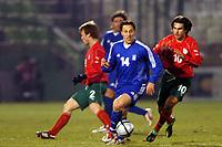 Fotball<br /> Treningskamp - Privatlandskamp<br /> 18.02.2004<br /> Hellas v Bulgaria<br /> Foto: Digitalsport<br /> NORWAY ONLY<br /> <br /> PANTELIS KAFES (GRE) / VELIZAR DIMITROV (BUL)