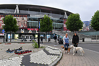 Football - 2019 / 2020 Premier League - Arsenal vs. Leicester City<br /> <br /> Empty streets an hour before kick off, at the Emirates Stadium.<br /> <br /> COLORSPORT/ASHLEY WESTERN