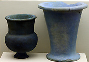 vase of Egyptian blue (a substance with similar properties to faience. 18th Dynasty, circa 1550-1300 BC