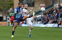 Marcus Maddison of Peterborough United in action with Curtis Thompson of Wycombe Wanderers - Mandatory by-line: Joe Dent/JMP - 05/10/2019 - FOOTBALL - Adam's Park - High Wycombe, England - Wycombe Wanderers v Peterborough United - Sky Bet League One