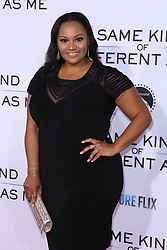 """Dana Gourrier at the Paramount Pictures And Pure Flix Entertainment's """"Same Kind Of Different As Me"""" Premiere held at the Westwood Village Theatre on October 12, 2017 in Westwood, California, USA (Photo by Art Garcia/Sipa USA)"""