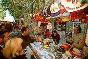 SPAIN, MADRID, MARKETS El Rastro; famous Sunday flea market