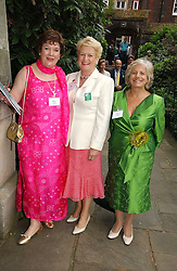 Left to right, MRS KEITH SIMPSON, LADY GRIFFITHS and LADY BRENNAN at the annual Macmillan Cancer Support House of Lords vs the House of Commons Tug of War held in Victoria Tower Gardens on 20th June 2006.<br /><br />NON EXCLUSIVE - WORLD RIGHTS
