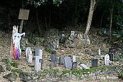markers memorializing World War II war dead, Saipan, Commonwealth of Northern Mariana Islands, Micronesia ( Western Pacific Ocean )