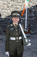 Cadt Kelly Smyth at Kilmainham Gaol, where 14 of the leaders of the Rising were executed.<br />Pic:Mark Condren<br />27.3.2016