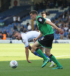 Murray Wallace of Scunthorpe United (R) and Tom Aldred of Bury in action - Mandatory by-line: Jack Phillips/JMP - 02/09/2017 - FOOTBALL - Gigg Lane - Bury, England - Bury v Scunthorpe United - English Football League One