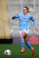 Manchester City midfielder Laura Coombs (7) during the FA Women's Super League match between Manchester United Women and Manchester City Women at Leigh Sports Village, Leigh, United Kingdom on 14 November 2020.