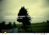 poster: voorwaarts maart / en avant mars <br /> <br /> assignment: hardscore vzw - 2012<br /> coverphoto: © kurt van der elst<br /> format: A2<br /> grafics: kurt van der elst
