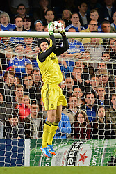 LONDON, ENGLAND - September 18: Chelsea's Petr Cech  during the UEFA Champions League Group E match between Chelsea from England and Basel from Switzerland played at Stamford Bridge, on September 18, 2013 in London, England. (Photo by Mitchell Gunn/ESPA)