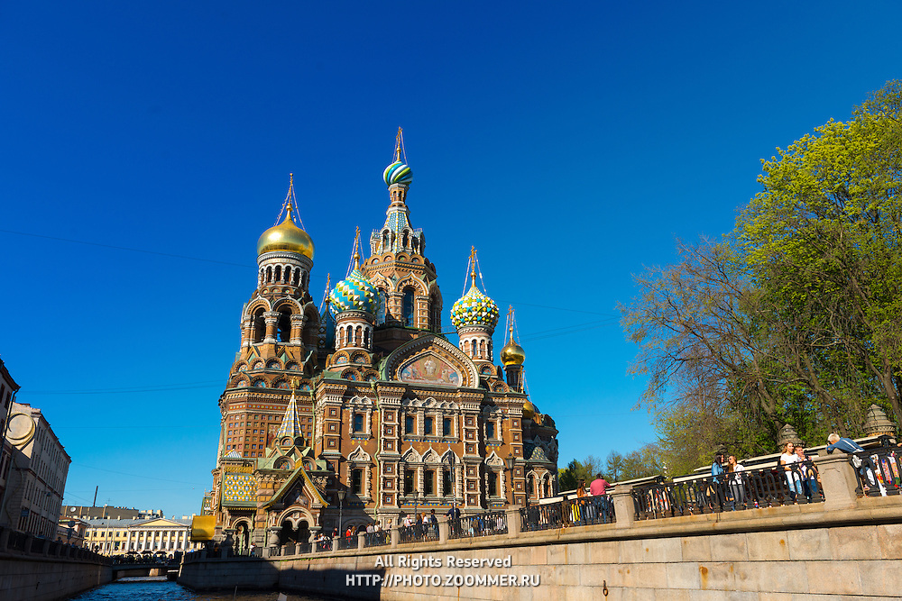 Savior on the Spilled Blood Cathedral Embankment, St.-Petersburg