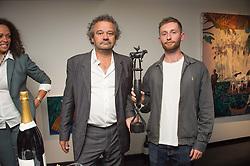 MARK HIX and winner of the 2016 Hix Award JOSHUA RAZ at the Hix Award 2016 held at Unit London, 147 Wardour Street, Soho, London on 5th September 2016.