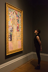 "© Licensed to London News Pictures. 08/10/2013. London, England. Pictured: Posthumous Portrait of Ria Munk III by Gustav Klimt, 1917-18. This autumn, the National Gallery presents the UK's first major exhibition devoted to Viennese portraiture - ""Facing the Modern: The Portrait in Vienna 1900"". From 9 October 2013 to 12 January 2014 portraits by artists such as Gustav Klimt, Oskar Kokoschka, Egon Schiele and Richard Gerstl will be on display. Photo credit: Bettina Strenske/LNP"