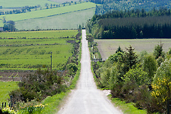 The road out of Archiestown, which is a small village in Moray, Scotland...©2011 Michael Schofield. All Rights Reserved..