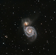 Whirpool galaxy (Messier 51A) and the interacting galaxy NGC5195 in Canes Venatici.