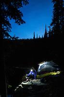 Backpacking Little Spar Lake, in western Montana.
