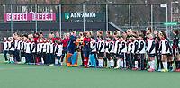 AMSTELVEEN - Hockey - Hoofdklasse competitie dames. AMSTERDAM-LAREN (2-0)  .Shake hands, Hockey Academy.   COPYRIGHT KOEN SUYK