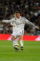 Real Madrid´s Cristiano Ronaldo during 2014-15 La Liga match between Real Madrid and Malaga at Santiago Bernabeu stadium in Madrid, Spain. April 18, 2015. (ALTERPHOTOS/Luis Fernandez)