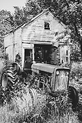Old tractor and barn, NJ