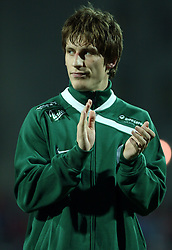 Valter Birsa (18) of Slovenia before the UEFA Friendly match between national teams of Slovenia and Denmark at the Stadium on February 6, 2008 in Nova Gorica, Slovenia. Slovenia lost 2:1. (Photo by Vid Ponikvar / Sportal Images).