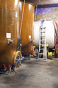 Domaine Terres Georges. In Castelnau d'Aude. Minervois. Languedoc. Fibreglass vats. Floating top vats. France. Europe.
