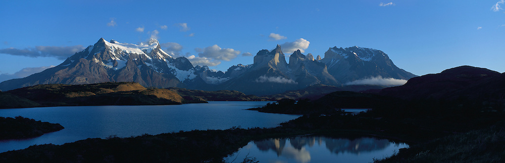 Lake Pehoe,Torres de Paine, Patagonia, Chile, South America<br />