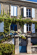 Typical French house at Sauveterre-de-Guyenne, Bordeaux, France