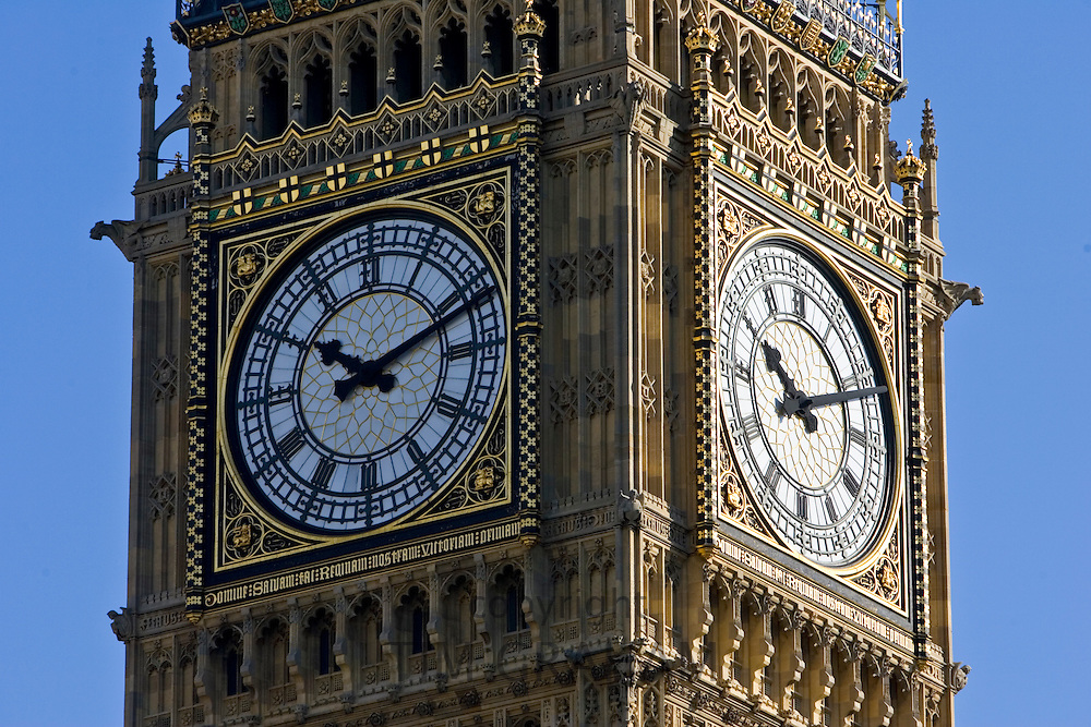 Big Ben and clock in St Stephen's Tower, London, United Kingdom