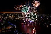 Fireworks over the River Thames, London