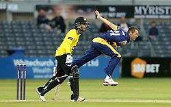 Michael Hogan of Glamorgan bowls - Mandatory by-line: Robbie Stephenson/JMP - 10/06/2016 - CRICKET - Brightside Ground - Bristol, United Kingdom - Gloucestershire v Glamorgan - NatWest T20 Blast