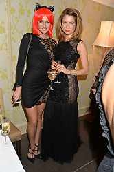 Left to right, KIM JOHNSON and GABRIELLA PEACOCK at the Bumpkin Halloween Dinner hosted by Marissa Hermer held at Bumpkin, 119 Sydney Street, London on 23rd October 2014.