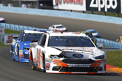 August 5, 2018 - Watkins Glen, New York, United States of America - David Ragan (38) brings his car through the turns during the Go Bowling at The Glen at Watkins Glen International in Watkins Glen , New York. (Credit Image: © Chris Owens Asp Inc/ASP via ZUMA Wire)