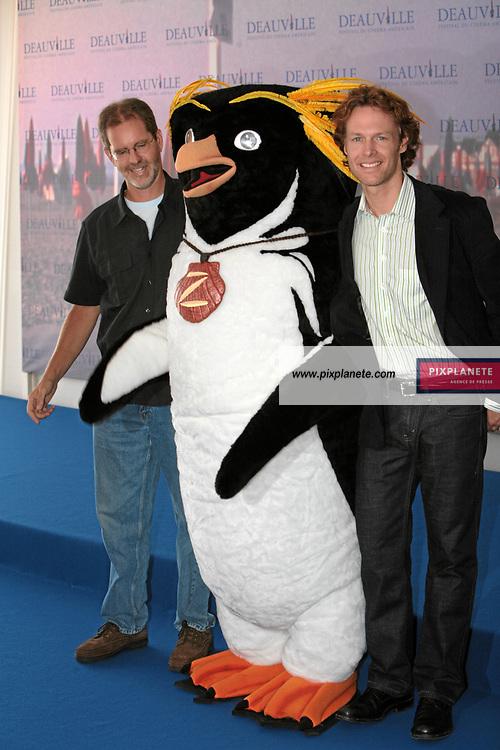Ashley Brannon et Chris Buck pour Surf's Up - Photocall - Festival du Film Américain de Deauville - 1/09/2007 - JSB / PixPlanete