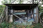 messy storage space in backyard