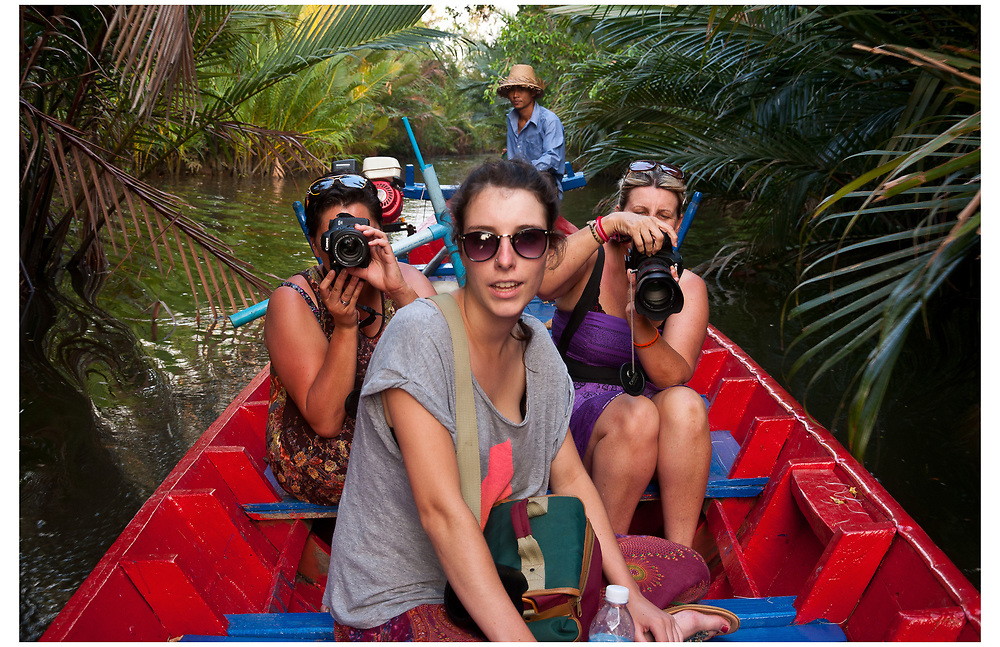 Boat tour on the Kampot River, Cambodia.