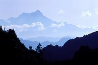 Nepal - Region de Pokhara - Chaine de montagne du Manaslu