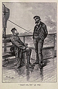 That's Me Sir from the book ' Mistress Branican ' by Jules Verne, illustrated by Leon Benett. The story begins in the United States, where the heroine, Mistress Branican, suffers a mental breakdown after the death by drowning of her young son. On recovering, she learns that her husband, Captain Branican, has been reported lost at sea. Having acquired a fortune, she is able to launch an expedition to search for her husband, who she is convinced is still alive. She leads the expedition herself and trail leads her into the Australian hinterland. Mistress Branican (French: Mistress Branican, 1891) is an adventure novel written by Jules Verne and based on Colonel Peter Egerton Warburton and Ernest Giles accounts of their journeys across the Western Australian deserts, and inspired by the search launched by Lady Franklin when her husband Sir John Franklin was reported lost in the Northwest Passage. Translated by A. Estoclet, Published in New York, Cassell Pub. Co. 1891.