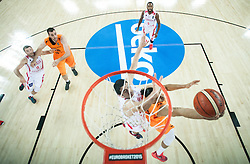 05-09-2015 CRO: FIBA Europe Eurobasket 2015 Georgie - Nederland, Zagreb<br /> Worthy de Jong of Netherlands during basketball match between Georgia and Netherlands at Day 1 in Group C of FIBA Europe Eurobasket 2015, on September 5, 2015, in Arena Zagreb, Croatia. Photo by Vid Ponikvar / RHF
