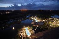 The pool area is viewed from the Capa Spanish steakhouse and bar at the Four Seasons Resort Orlando at Walt Disney World, Monday, Feb. 22, 2016, in Lake Buena Vista, Fla. (Phelan M. Ebenhack via AP)