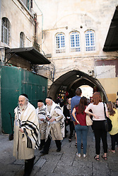 A view from inside the old city of Jerusalem. From a series of photos commissioned by  British NGO, Medical Aid for Palestinians (MAP).
