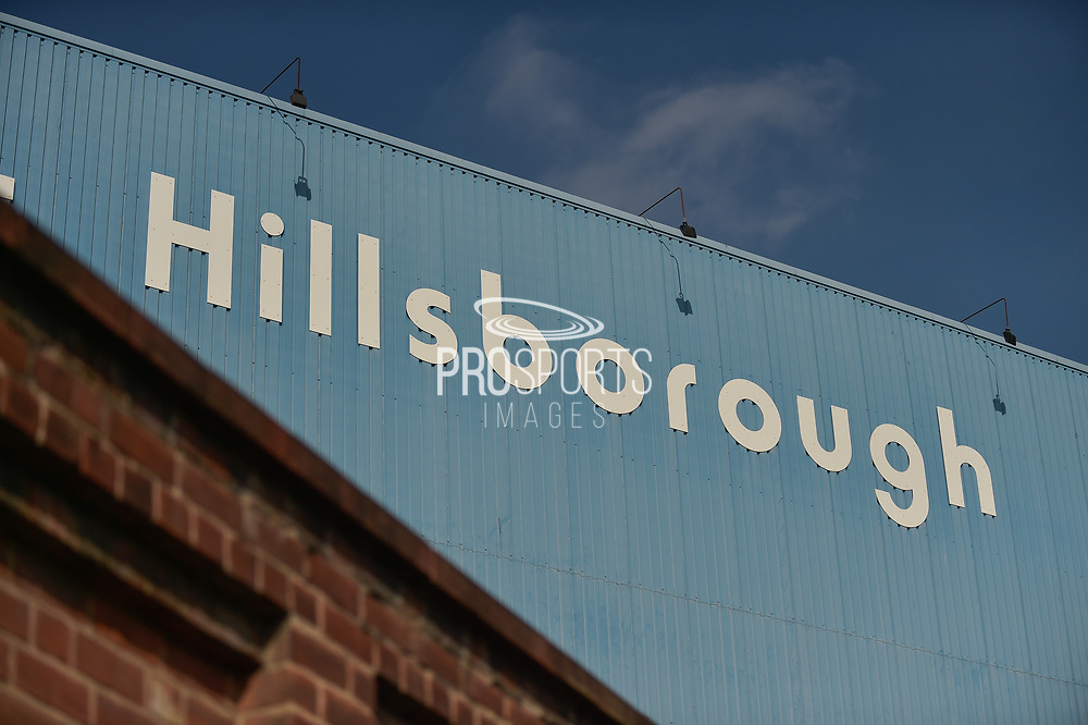 Hillsborough sign during the EFL Sky Bet Championship match between Sheffield Wednesday and Sheffield Utd at Hillsborough, Sheffield, England on 24 September 2017. Photo by Adam Rivers.