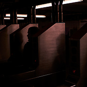 Commuters at The Bedford Avenue L stop in Williamsburg, Brooklyn, New York on Thursday, January 3, 2019. John Taggart for The New York Times