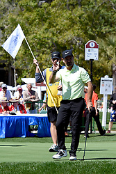 April 12, 2018 - Hilton Head Island, South Carolina, U.S. - HILTON HEAD ISLAND, SC - APRIL 12: Rory Sabbatini, the first round leader,  during the first round of the RBC Heritage on April 12, 2018 at Harbour Town Golf Links in Hilton Head Island, SC. (Photo by Theodore A. Wagner/Icon Sportswire) (Credit Image: © Theodore A. Wagner/Icon SMI via ZUMA Press)