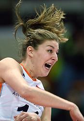 04-01-2016 TUR: European Olympic Qualification Tournament Nederland - Duitsland, Ankara <br /> De Nederlandse volleybalvrouwen hebben de eerste wedstrijd van het olympisch kwalificatietoernooi in Ankara niet kunnen winnen. Duitsland was met 3-2 te sterk (28-26, 22-25, 22-25, 25-20, 11-15) / Anne Buijs #11