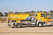 Fuelling truck at an airstrip, Hertzlia, Israel