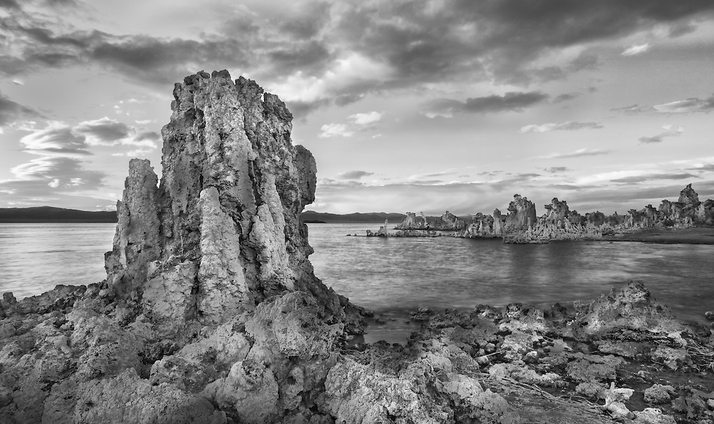 Tufa rock formations.  Mono Lake, California