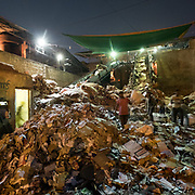 Recycling paper in sector 51, Noida.