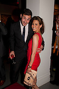 ALEX BOURNE; RACHEL STEVENS, Tunnel of Love. Funfair party The Mending Broken Hearts appeal In aid of the British Heart Foundation. Victoria House, Bloomsbury. London. 17 May 2011. <br /> <br />  , -DO NOT ARCHIVE-© Copyright Photograph by Dafydd Jones. 248 Clapham Rd. London SW9 0PZ. Tel 0207 820 0771. www.dafjones.com.