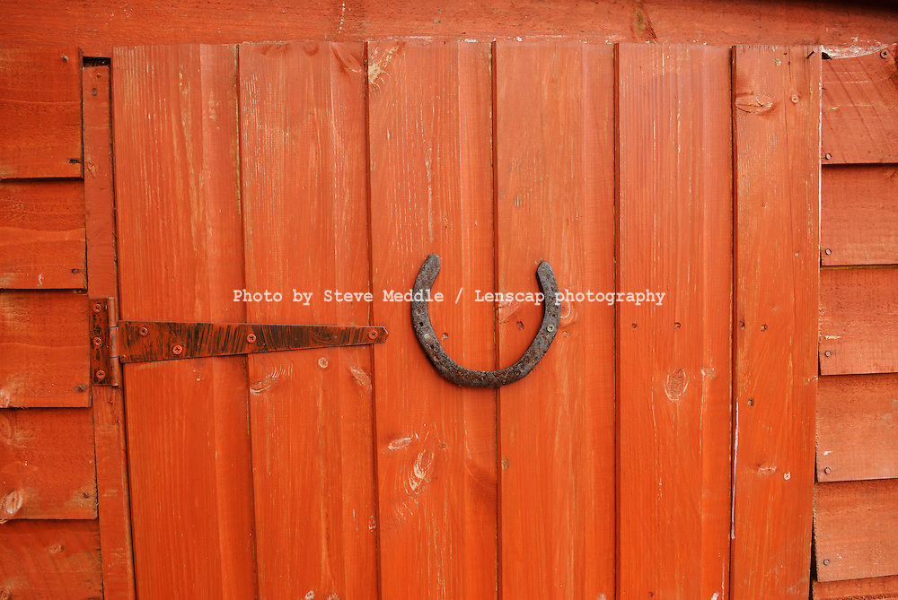 Lucky Horseshoe Fixed to a Shed Door - August 2009